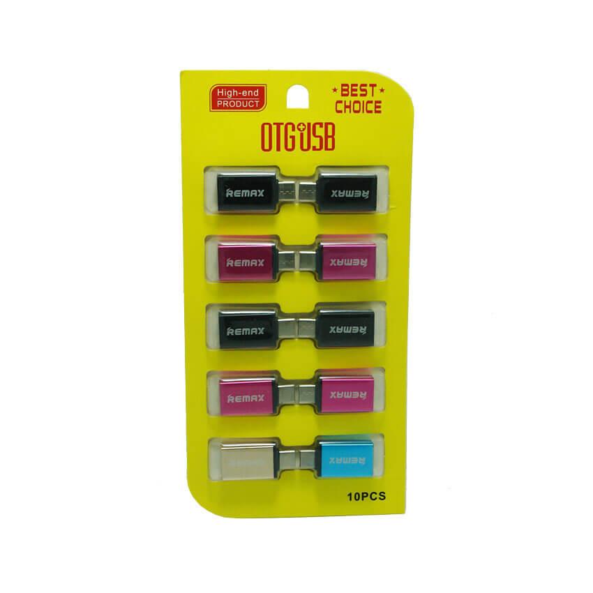 تبدیل او تی جی ریمکس REMAX OTG Type-C -پک زرد 10 تایی