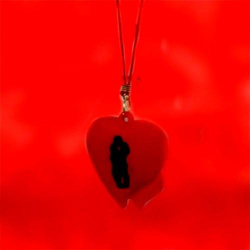 آویز موبایل و فلش قلب2تایی