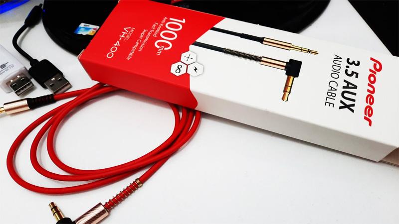 کابل صدا 1 به 1 AUX Pioneer VH-400 1M-یکسر L فلزی