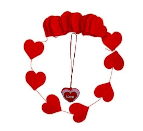 آویز موبایل و فلش قلب