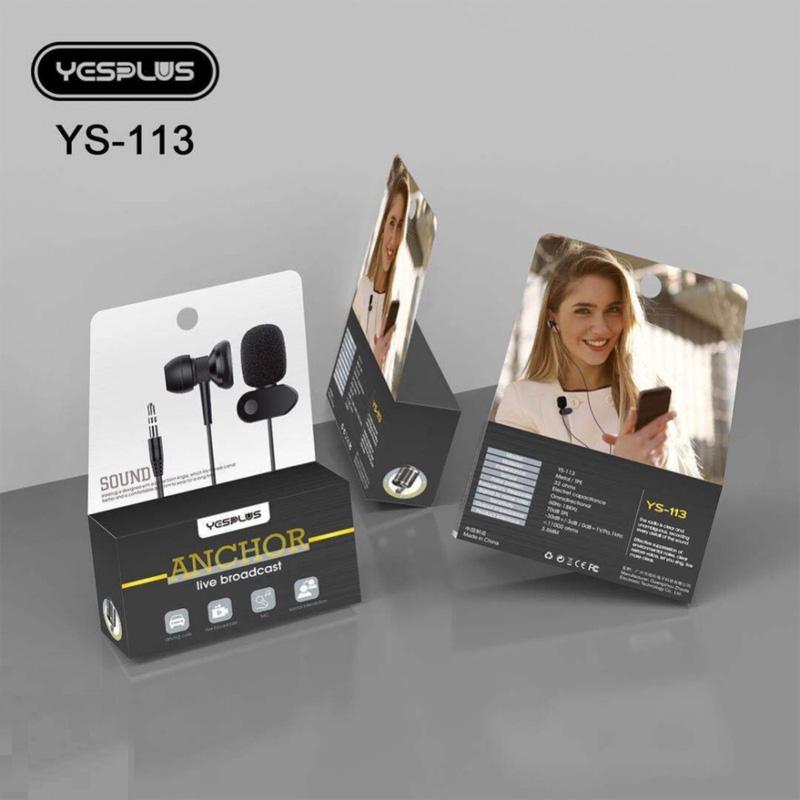 هندزفری YESPLUS YS-113 + میکروفون یقه ای