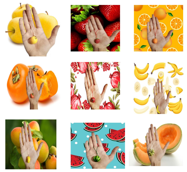 آویز موبایل و فلش میوه